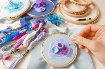 embroidery on hoop
