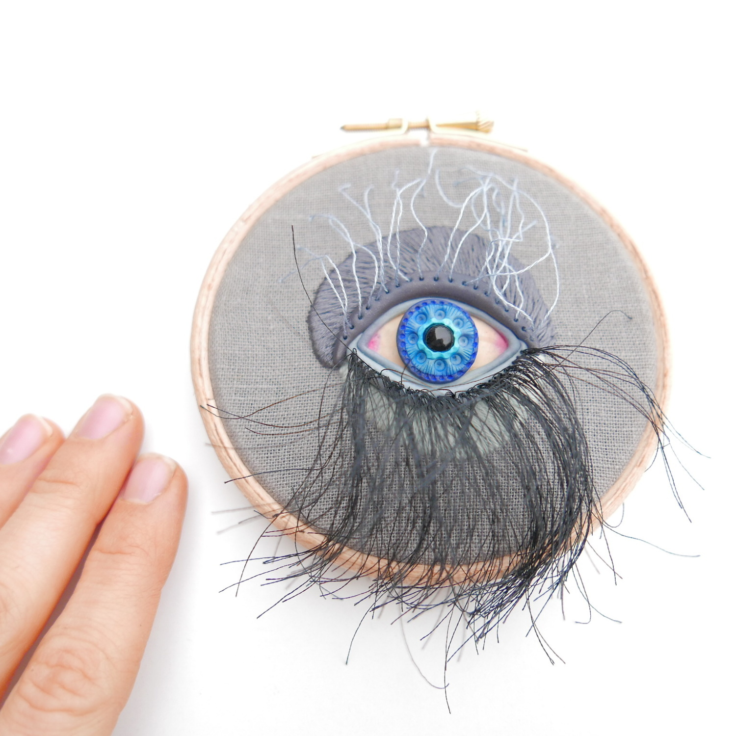 mixed media embroidery