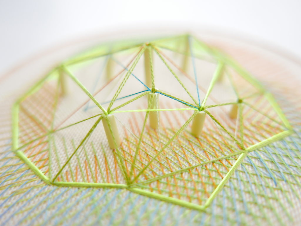 Textile art for home is a 3D hand embroidery