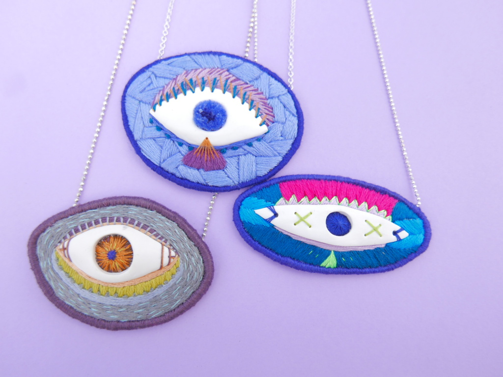 handmade eye necklaces