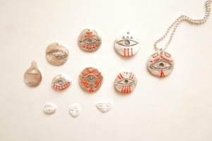 sterling silver eyes pendants