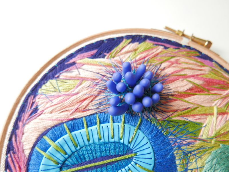embroidery hoop with beautiful hand embroidery