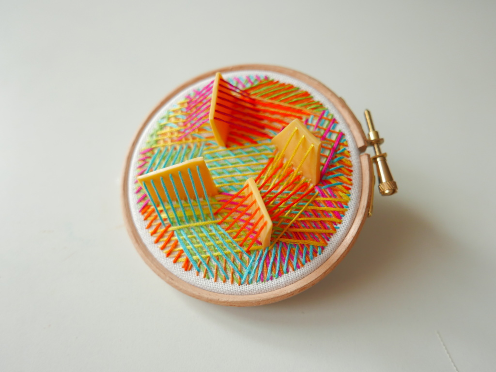 hand stitched 3d hoop