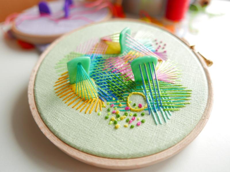 original hand embroidered hoop