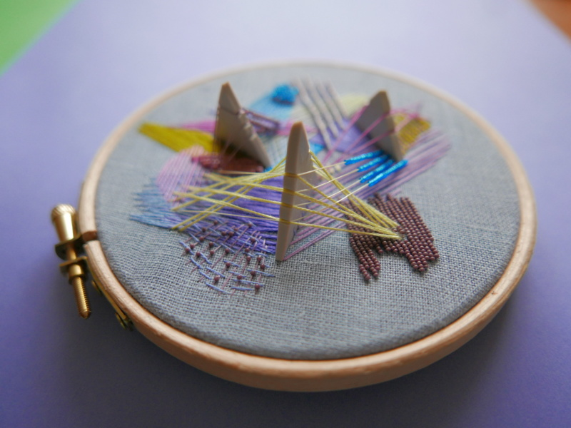 hand embroidered hoop