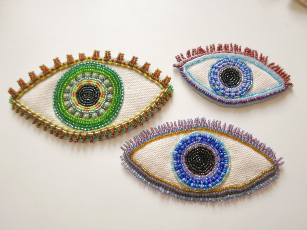 beaded eyes patches
