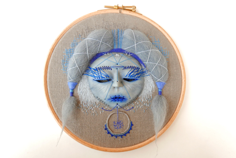 hand embroidered mask